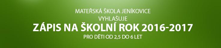Zápis do Mateřské školy Jeníkovice